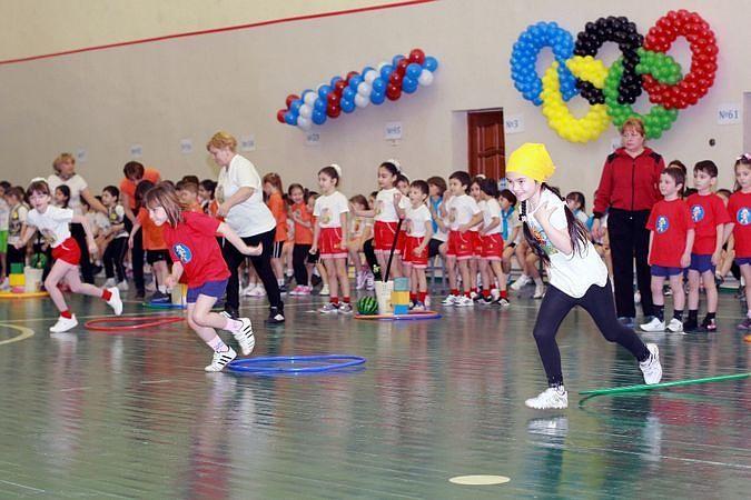Во Владикавказе прошли олимпийские игры среди детсадовцев.