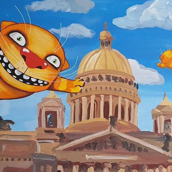 Выставка Васи Ложкина «Культурный Кот Петербурга»