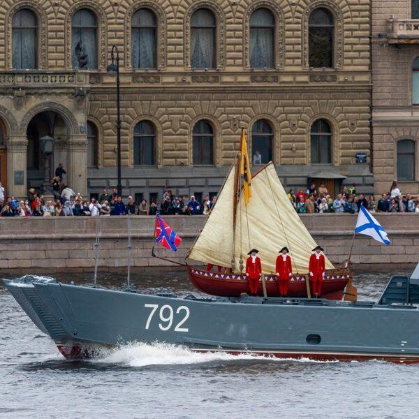 Генеральная репетиция парада на День ВМФ