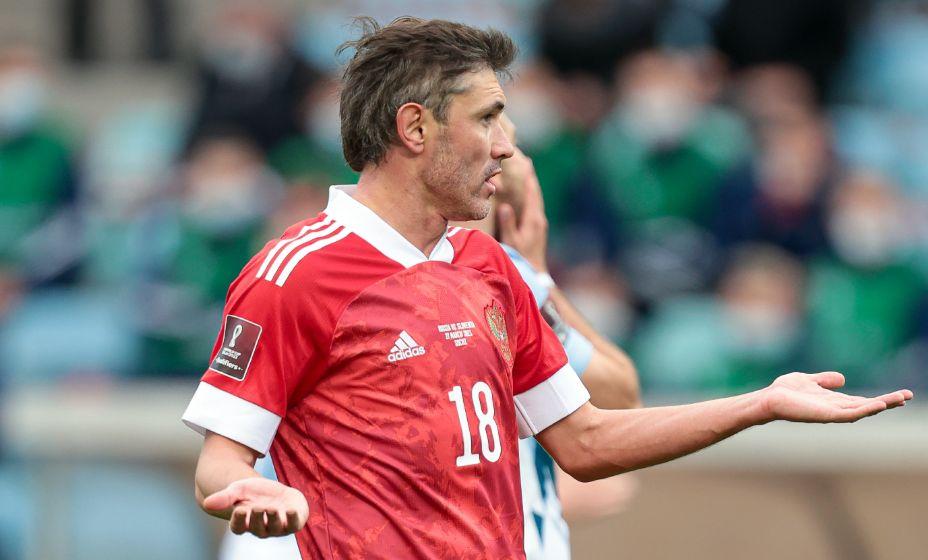 Защитник сборной России Юрий Жирков один из самых возрастных игроков на Евро-2020. Фото: Global Look Press.