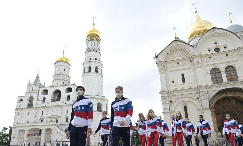 В Кремле уже проводили сборную России на Олимпиаду в Токио. Фото: Reuters
