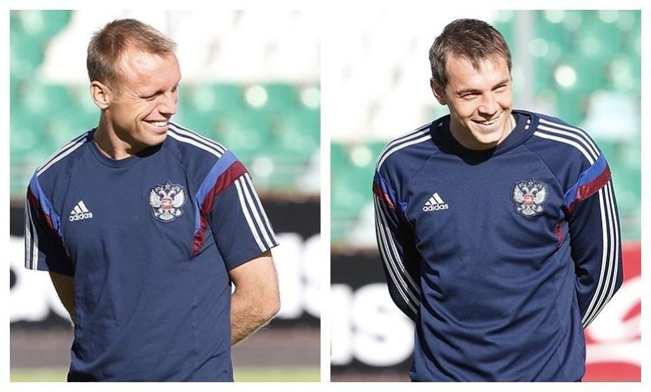 Денис Глушаков и Артем Дзюба возвращаются в сборную страны. Фото: РФС